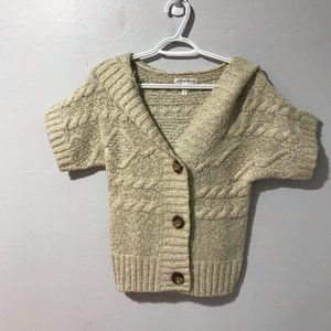 Aeropostale Short Sleeve Hooded Cable knit Sweater